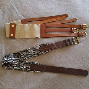 J.Crew woven belt with leather trim (pick 1)